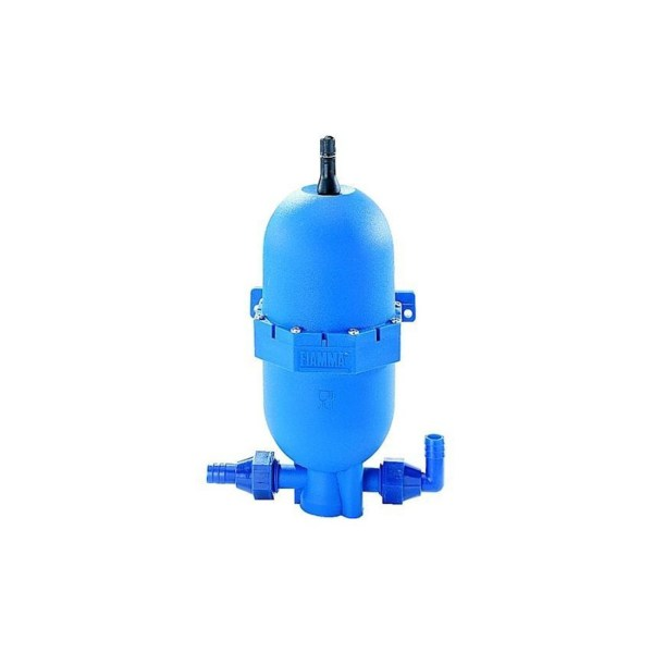 blue expansion tank for van water supply.