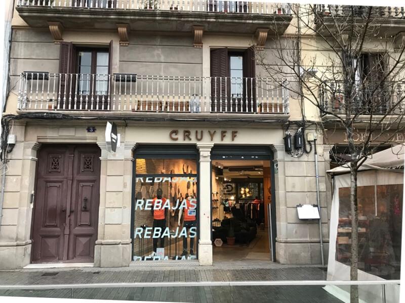 De winkel van Cruijff (Placa Comercial 3). (Barcelona).