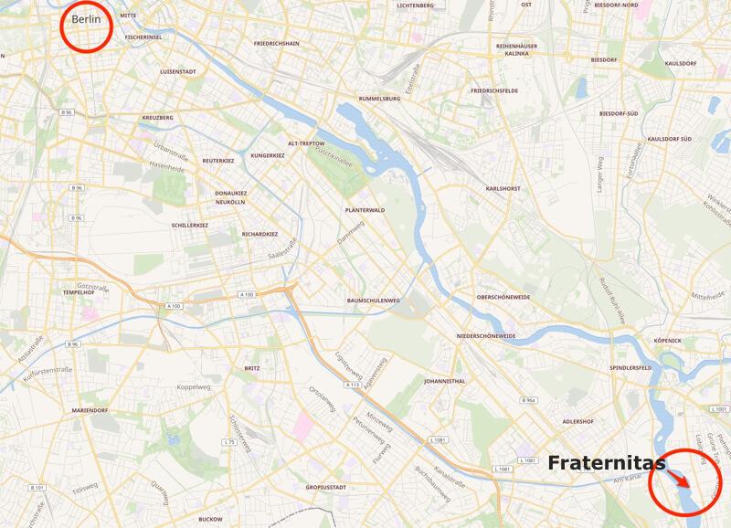 De zeilvereniging ligt in de Berlijnse wijk Köpenick.