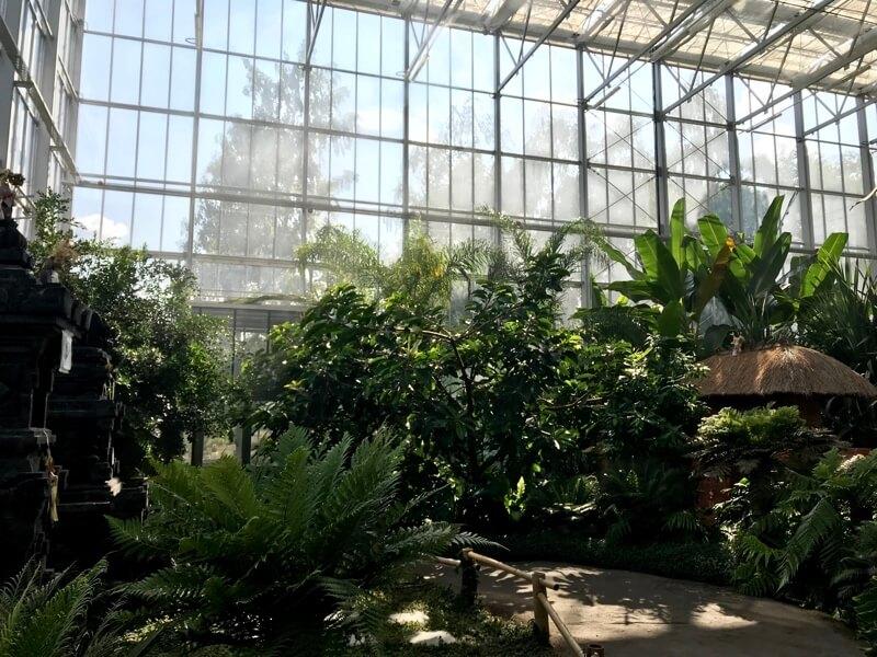 De tropische kas (Bali) van Garten der Welt