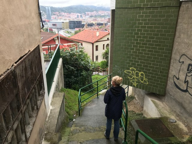 Traplopen in Altamira (Bilbao).