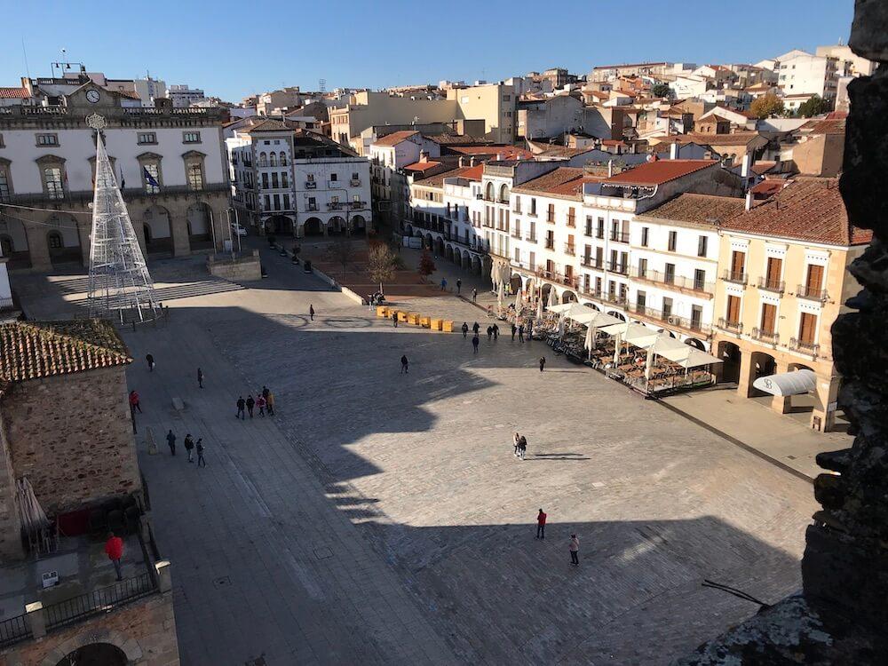 Het levendige hart van Cáceres, Plaza Mayor.