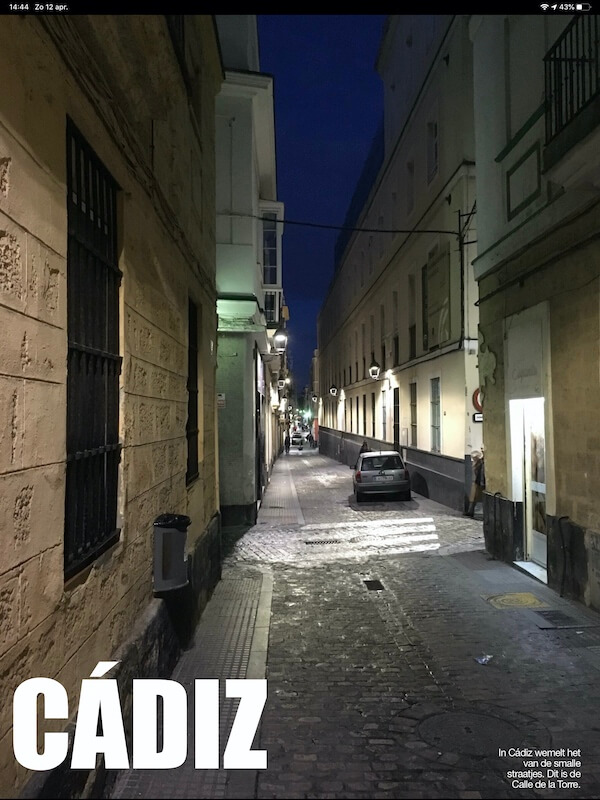 Voorbeelden uit digitale reisgids Costa de la Luz Zuid