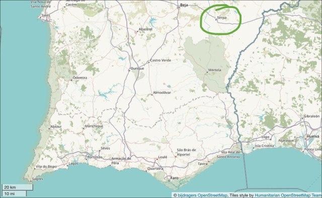 Serpa ligt vlakbij Spanje in de Portugese provincie Alentejo.