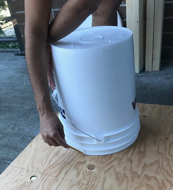 Measure the hole for your composting toilet
