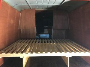 Bettgestell Aus- / Umbau Opel Blitz bj '65 beim Campervan Service