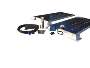 200W Solar komplett Set mit Victron MPPT Laderegler