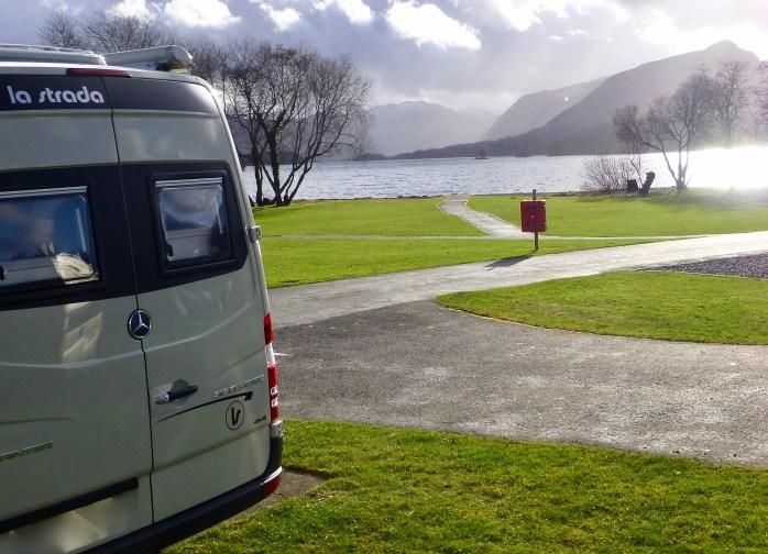 vanlife camping sites lake district camping and caravanning club keswick