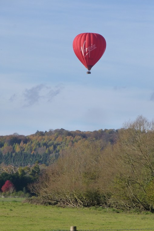 Perfect day for hot air ballooning