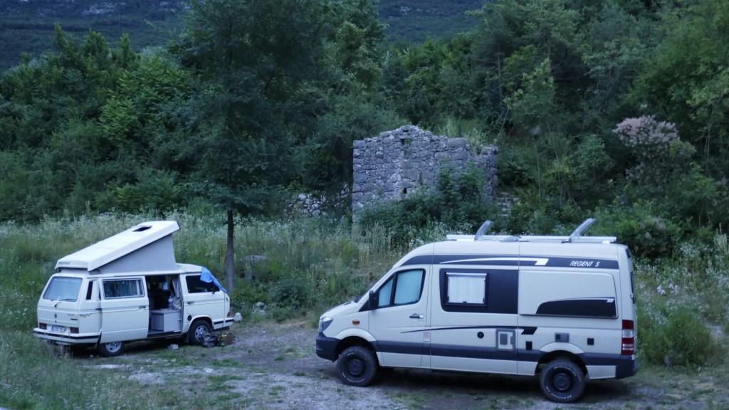 wildcamping in the Italian Lakes