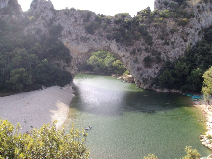 The Natural Limestone Arch in the Gorges d'Ardeche