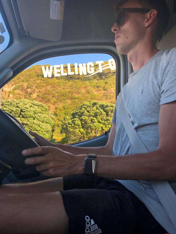 Wellington Wellywood sign