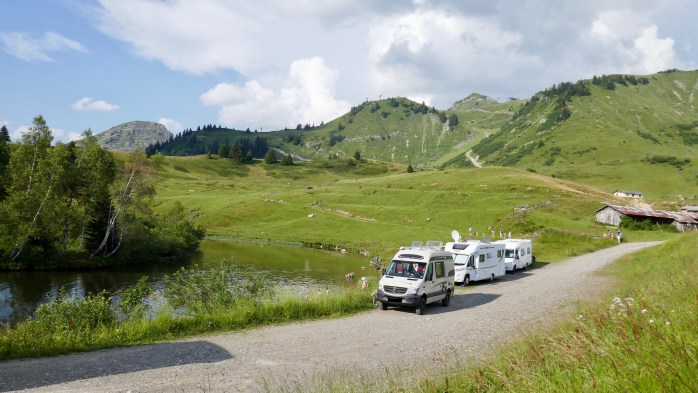 French alps in Summertime