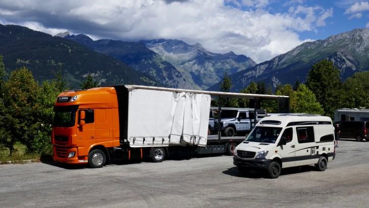 Ineos Grenadier and Mercedes Sprinter 4x4