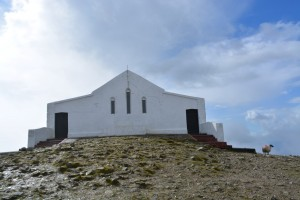 Church on top of Croagh Patrick built in 1905 (or at least around teatime)