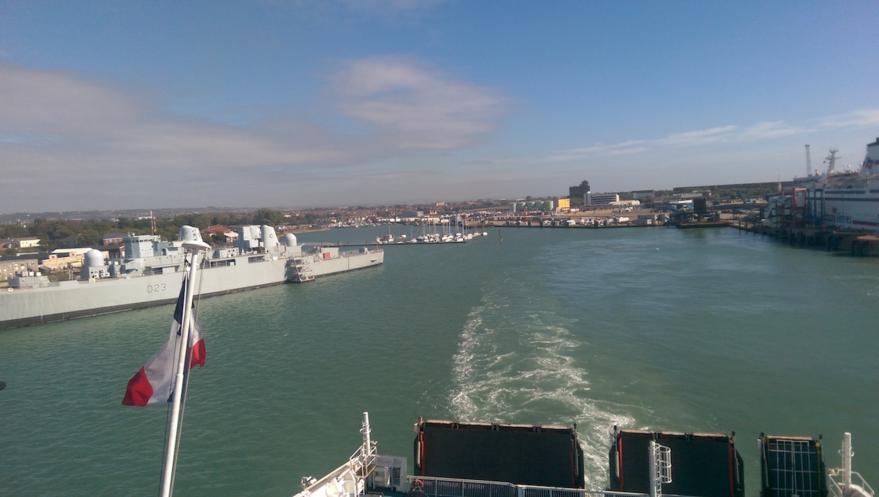 Portsmouth disappears over the horizon as we sail off to Bilbao