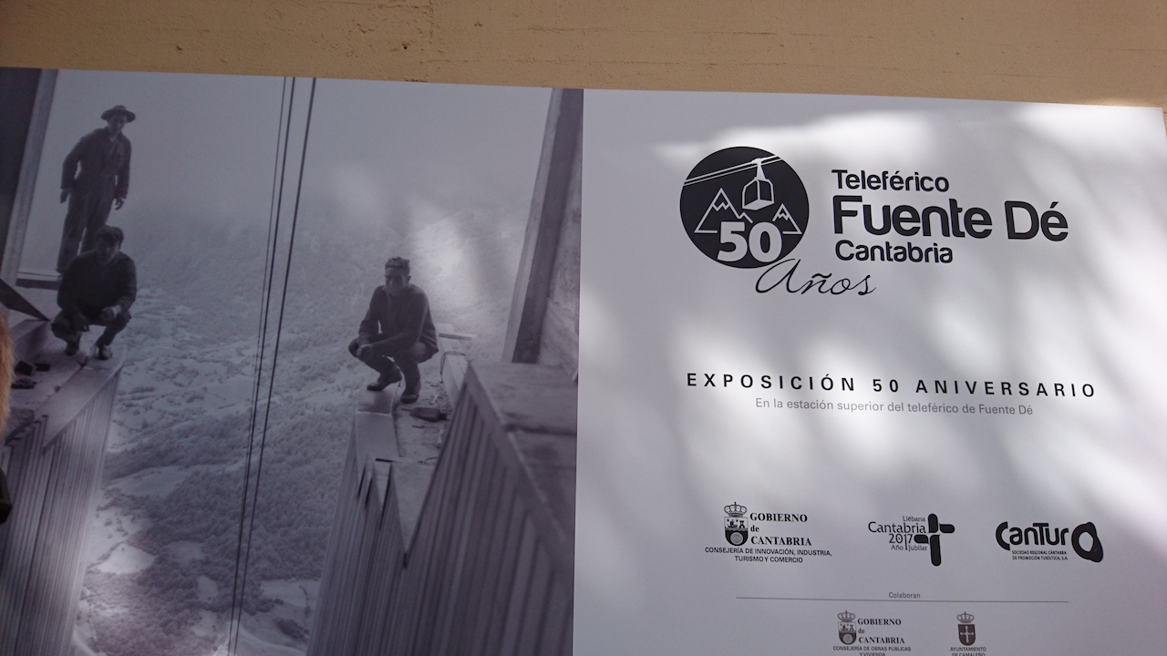 The 4 minute funicular to the top of Picos - is this photo Spain's version of that Empire State Building poster?
