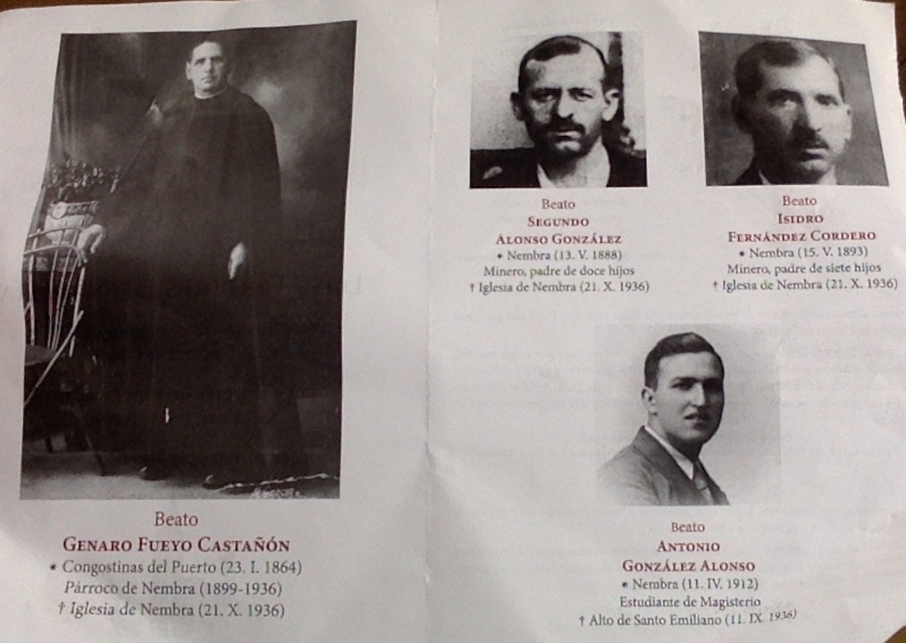 Los Martires de Nembra - some of the Spanish Martyrs executed during the Civil War, now being beatified.