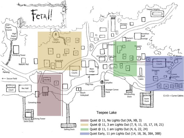 Cabin Assignments - Camp Feral
