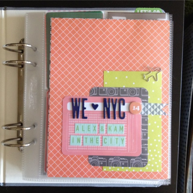 NYC Travel Album Using Pocket Pages - Campfire Chic