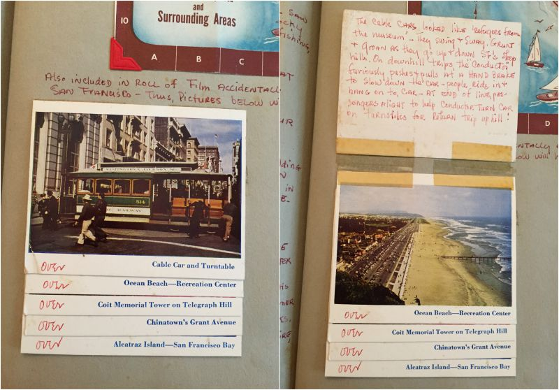Hidden Journaling in Travel Scrapbook from 1953 - Campfire Chic
