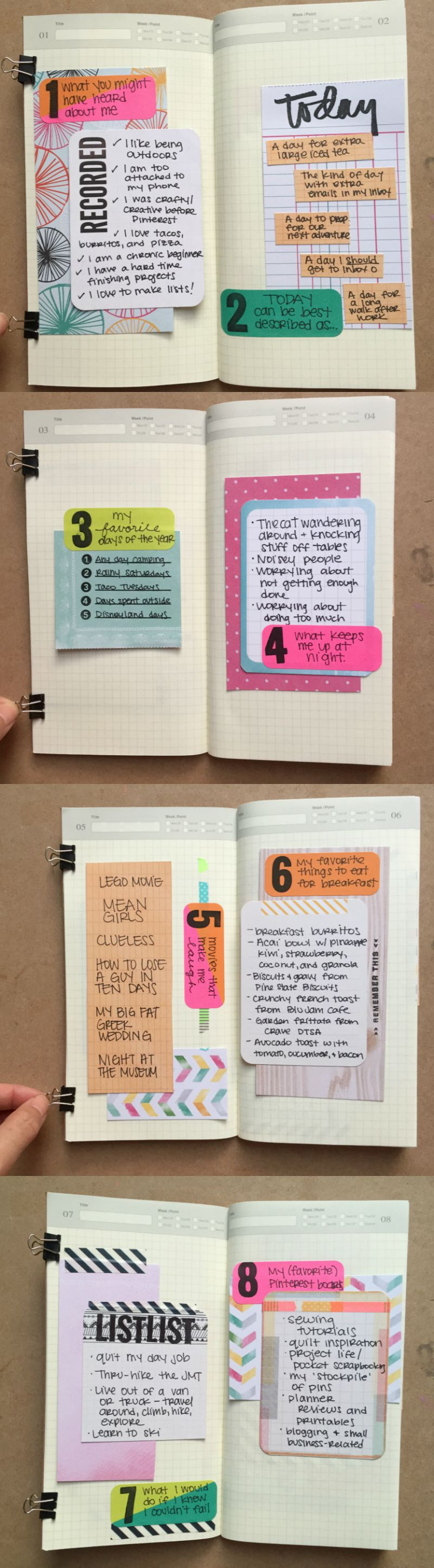 Midori Travelers Notebook for 30 Days of Lists Creative Journaling Challenge with Campfire Chic