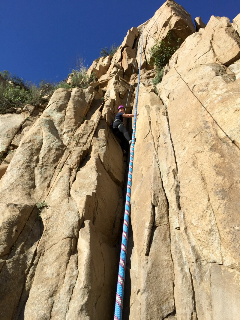 Rock Climbing at Ortega Falls in Riverside County - Campfire Chic