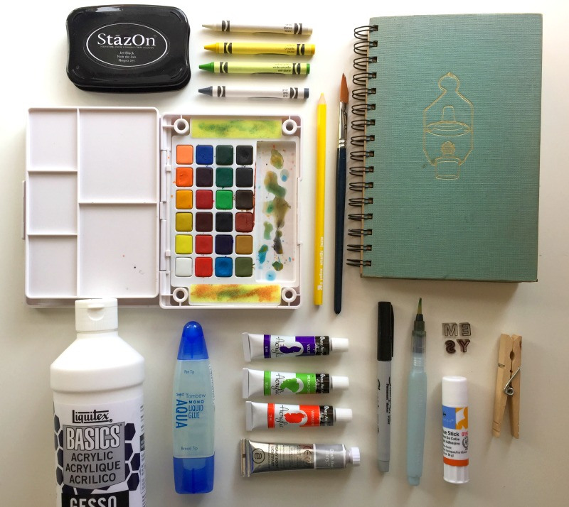 Art Journaling Supply Basic Kit from Campfire Chic