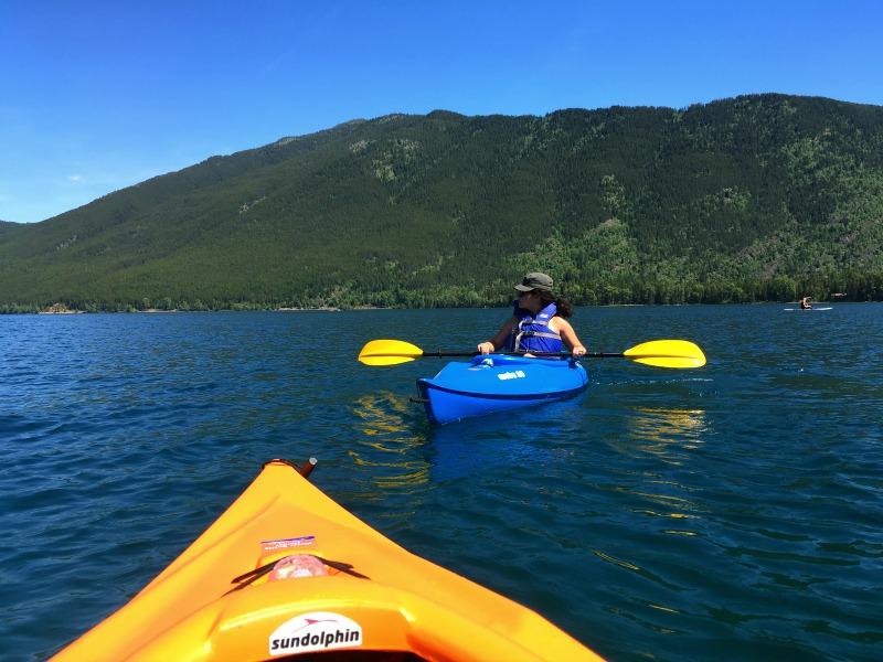 Kayaking on Lake McDonald in Glacier National Park - Campfire Chic