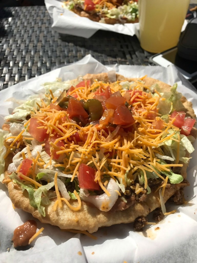 Marthas Fry Bread Native Tacos at Cactus Mart in Morongo Valley - Campfire Chic