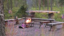 Who wouldn't feel Hygge around this Swedish firepit in Kiruna