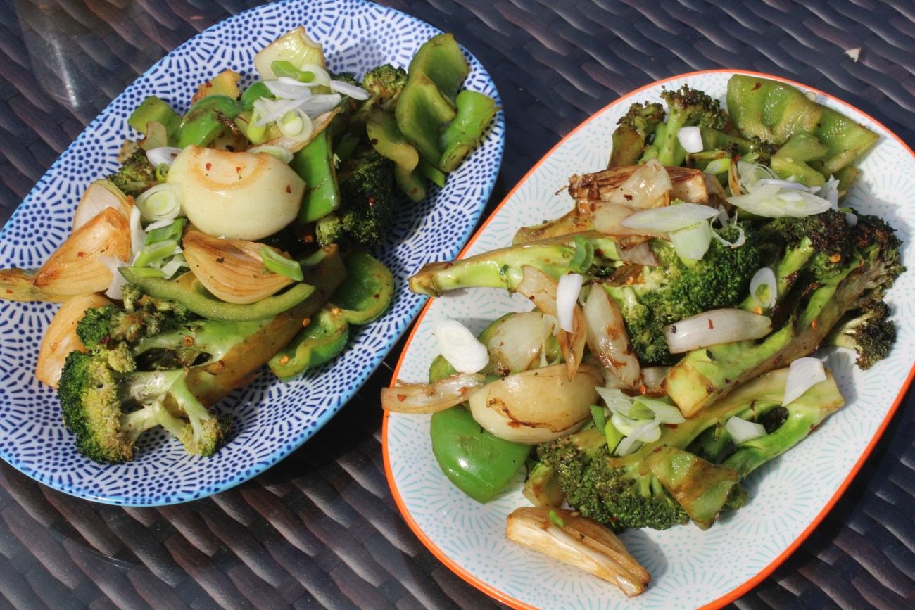 A part time vegetarian's Salt and Chilli Broccoli