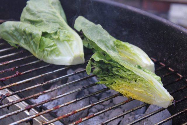 Firm lettuce works great on the grill!