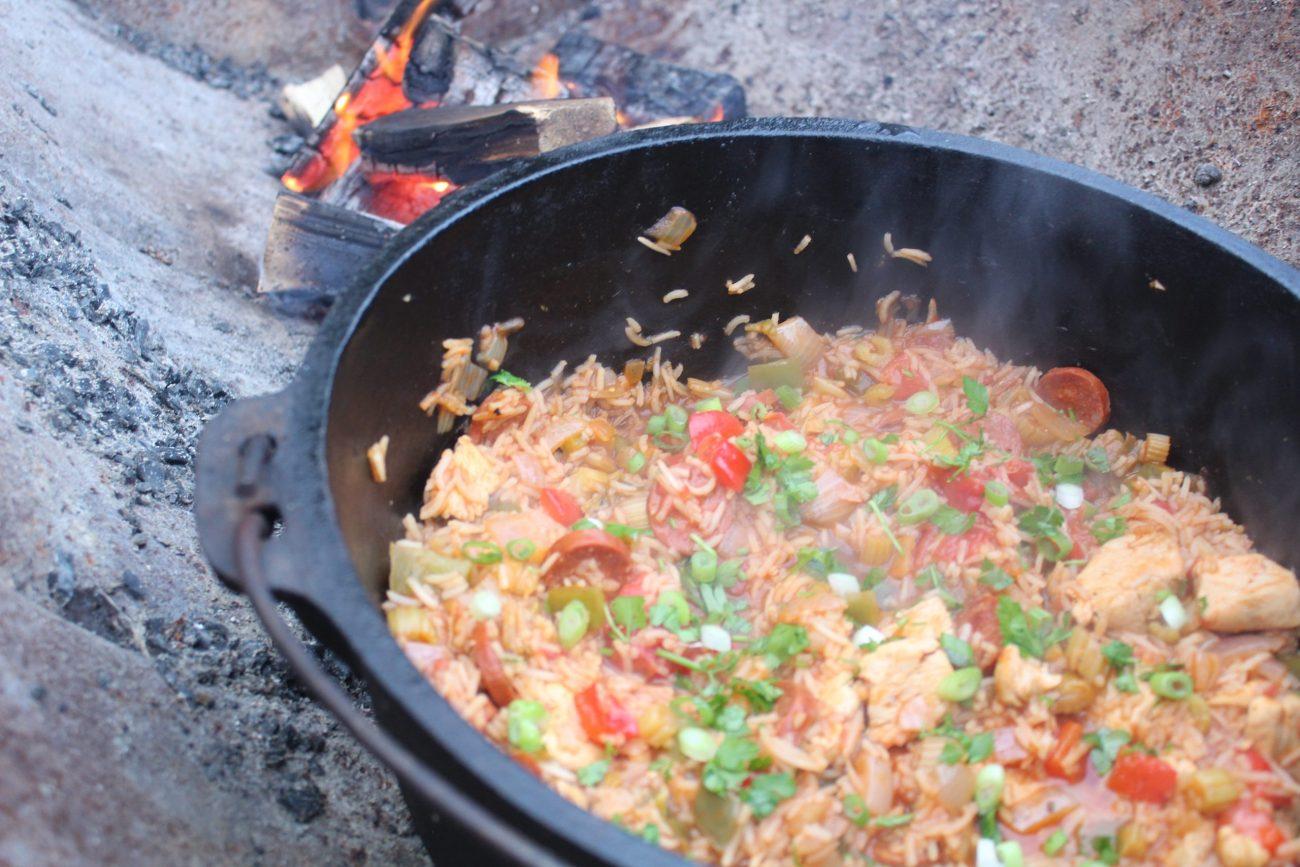 Chicken and Chorizo Dutch Oven Jambalaya