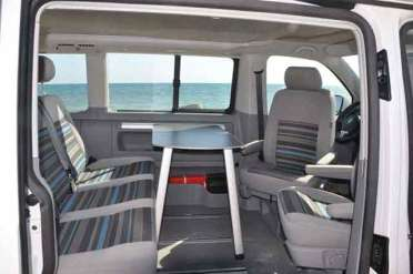 Inside a VW California Beach