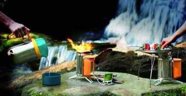 Biolite wood-burning camping stove