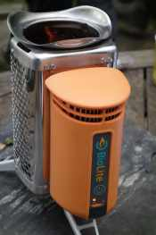 USB charger from Biolite camping stove