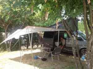 Tarp and VW Campervan