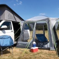 Fast and light – our choice for driveaway awnings and shelters
