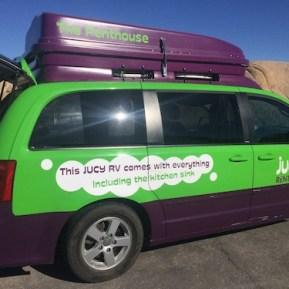 Lightweight rented camping car