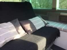 Home-made cushions for a VW California Beach