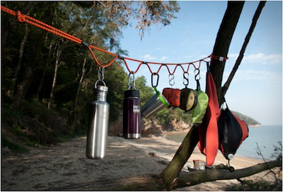 Looprope is great for hanging kit at camp, but is also strong and versatile enough to tie down bikes or other loads.Lots of lengths and tying options, plus no tangles. Ingenious.
