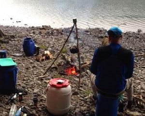 riverside campfire