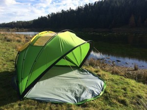 mollusc tent by river