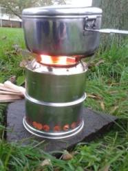 cooking on wood-gas