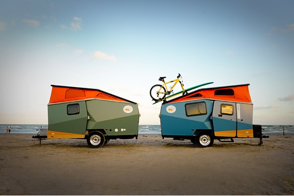 Why pull dull? Tempting trailers for cool campers