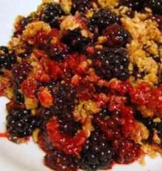 blackberry crumble