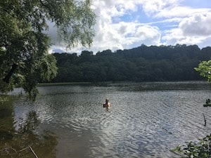 Swimming at Gormire