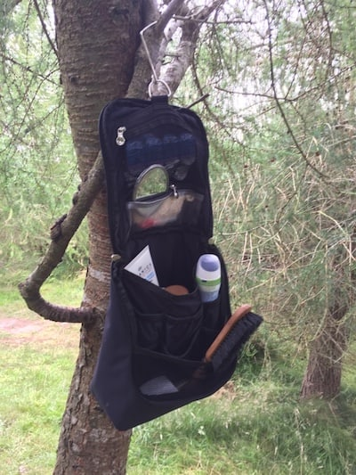 hanging toilet bag