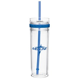 Bass- Bulk Custom Printed Straw Tumbler with Screw Apart Walls
